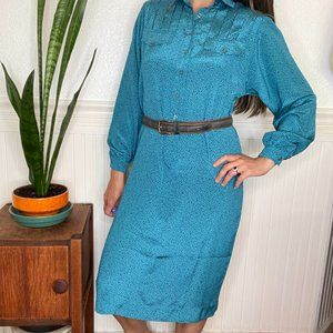 Vintage Schrader Sport Shirtwaist Dress